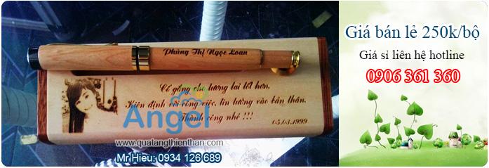 bút gỗ đẹp, bút gỗ khắc hình