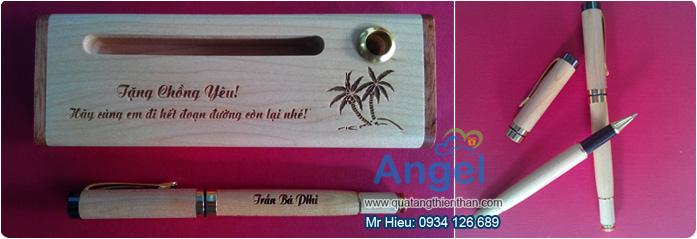 bút gỗ, bút gỗ khắc tên